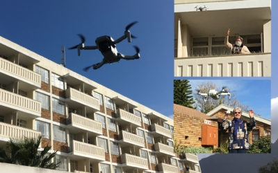 Connecting by Drone at the HSFA – Residents' waves and smiling eyes cross distances.