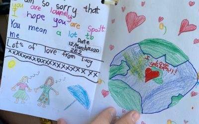 Letters of love from Beaumont Primary children